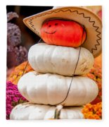Adorable Cowboy Pumpkin Figures Made From Pumpkins Fleece Blanket
