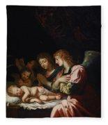Adoration Of The Angels Fleece Blanket