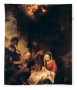 Adoration Of The Shepherds Fleece Blanket