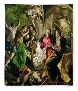 Adoration Of The Shepherds Fleece Blanket