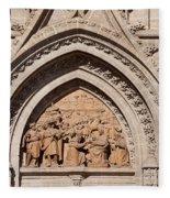 Adoration Of The Three Wise Men Relief Fleece Blanket