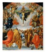 Adoration Of The Trinity  Fleece Blanket