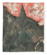 Adoring Eyes Fleece Blanket
