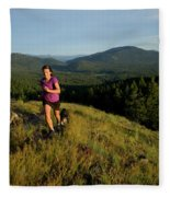 Adult Woman Trail Running Fleece Blanket