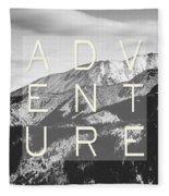 Adventure Typography Fleece Blanket