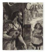 Advertisement For Cadburys Drinking Cocoa Fleece Blanket