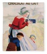 Advertisement For Chocolat Au Lait Fleece Blanket