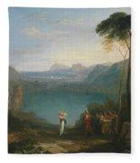 Aeneas And The Cumaean Sybil Fleece Blanket