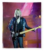 Aeosmith-tom Hamilton-00145 Fleece Blanket