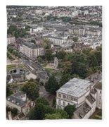 Aerial Chartres Fleece Blanket