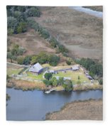 Aerial Jekyll Island Area Fleece Blanket