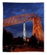 Aerial Lift Bridge Fleece Blanket