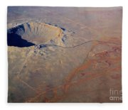 Aerial Of Meteor Crater Fleece Blanket