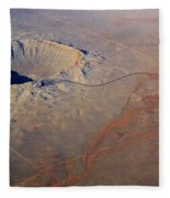 Aerial Of Meteor Crater Fleece Blanket