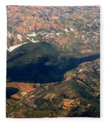 Aerial Photography - Hill Like A Big Mouse  Fleece Blanket