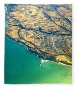 Aerial Photography - Italy Coast Fleece Blanket