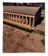 Aerial Photography Of The Parthenon Fleece Blanket
