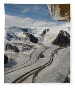 Aerial View From Bush Plane Fleece Blanket