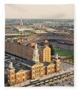 Aerial View Of A Baseball Stadium Fleece Blanket