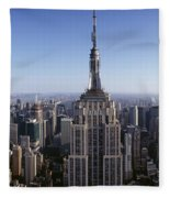 Aerial View Of A Cityscape, Empire Fleece Blanket