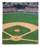 Aerial View Of A Stadium, Dodger Fleece Blanket