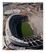 Aerial View Of A Stadium, Soldier Fleece Blanket