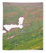 Aerial View Of Alaskan Landscape Fleece Blanket