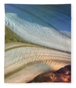 Aerial  View Of An Antarctica Glacier Flow Fleece Blanket