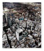 Aerial View Of London 3 Fleece Blanket