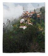 Aerial View Of Monserrate Church Fleece Blanket
