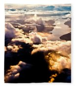 Aerial View Of Pacific Coast Of Bc Canada Fleece Blanket