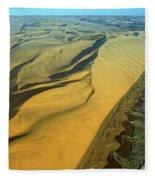 Aerial View Of Skelton Coast, Namib Fleece Blanket