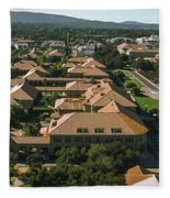 Aerial View Of Stanford University Fleece Blanket