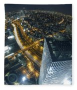 Aerial View Of Tel Aviv Fleece Blanket