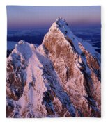 Aerial View Of The Grand Teton Fleece Blanket
