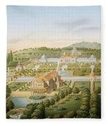 Aerial View Of The Villa Of King Fleece Blanket