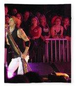 Aerosmith-steven Tyler-00074 Fleece Blanket