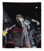 Aerosmith-steven Tyler-00160 Fleece Blanket