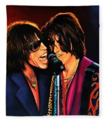 Aerosmith Toxic Twins Painting Fleece Blanket