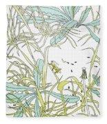 Aesop: Ant & Grasshopper Fleece Blanket