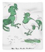 Aesop: Cocks Fighting Fleece Blanket