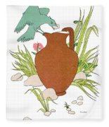 Aesop: Crow & Pitcher Fleece Blanket