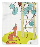 Aesop: Fox And Grapes Fleece Blanket
