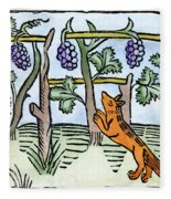 Aesop The Fox & The Grapes Fleece Blanket