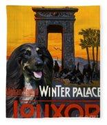 Afghan Hound Art - Luxor Poster Fleece Blanket