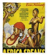 Africa Speaks Fleece Blanket