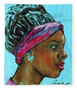 African American 5 Fleece Blanket