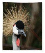 African Crowned Crane 1 Fleece Blanket