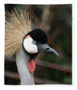 African Crowned Crane Fleece Blanket