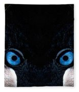 African Crowned Crane X2 Fleece Blanket